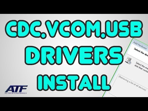 HOW TO INSTALL CDC-VCOM-USB DRIVERS