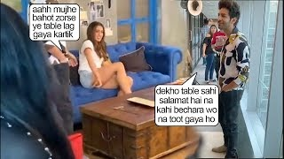 Kartik Aryan Makes FUN Of GIRLFRND Sara Khan As She Bumped Into A Table & Got Herself Hurttt