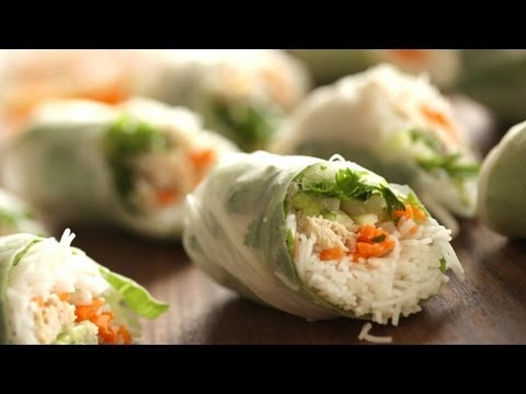 What's for Dinner Tuesday: Chicken Summer Rolls || KIN EATS