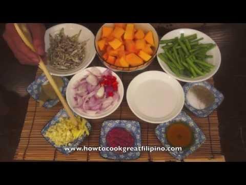 Paano magluto Kalabasa Dilis - Pumpkin & Dried fish recipe - Tagalog Pinoy Filipino cooking