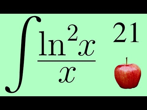 Calculus 2: The Integral of ln²x / x