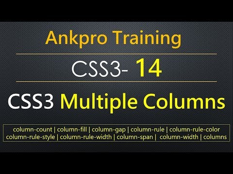 CSS3 14 - CSS3 Multiple Columns | Create column layout in the web pages | Multiple Column Properties