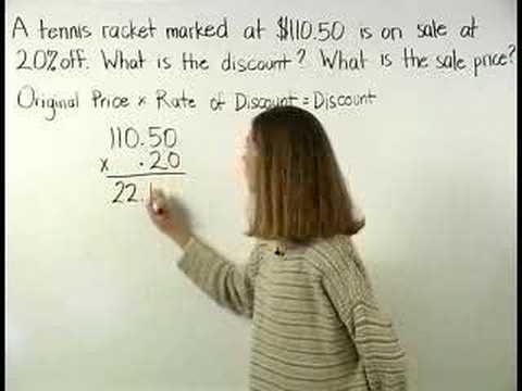Discount Formula - MathHelp.com - Pre Algebra Help
