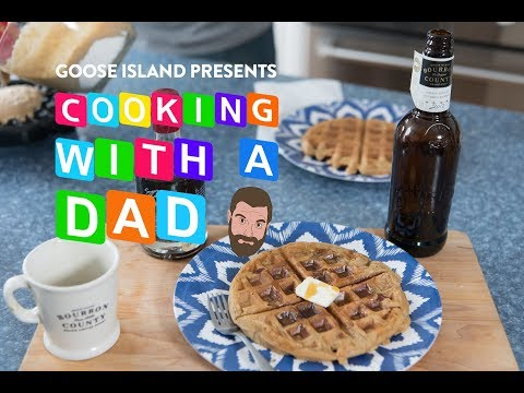 'Cooking with a Dad' Dad Waffles - Brewed for Food Education Series