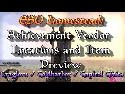 ESO: Achievement Vendor Locations Craglorn/Coldharbor/Capitol Cities