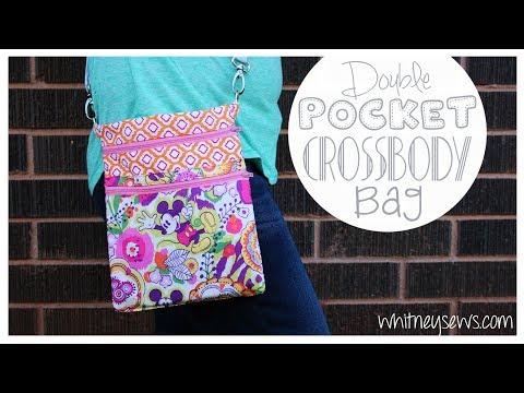 EASY Double Pocket Crossbody Bag | Whitney Sews