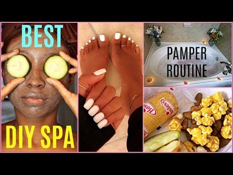 DIY Spa Night Pamper Routine | WINTER NIGHT ROUTINE 2018