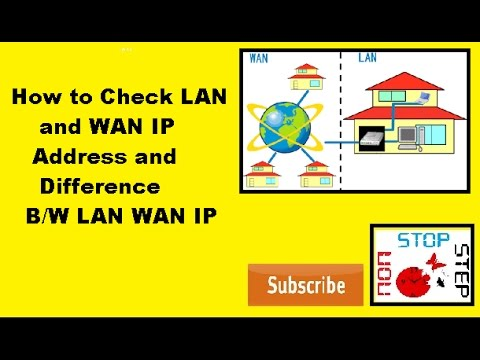 How to check lan and wan ip address and difference