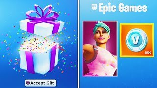 GIFTING the FREE Fortnite BIRTHDAY ITEMS.. (NEW Fortnite Birthday Challenges)