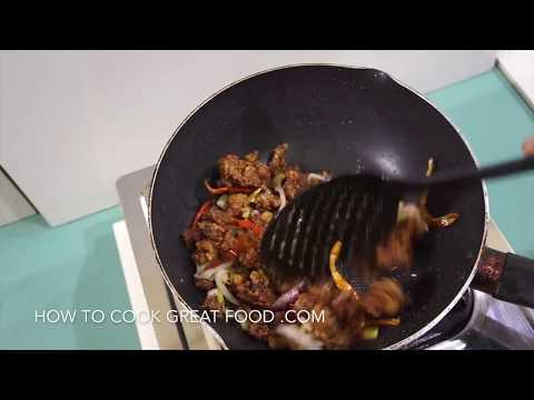 🍚 Chinese Chili Sweet Crispy Lamb Stir Fry Recipe - Asian Wok