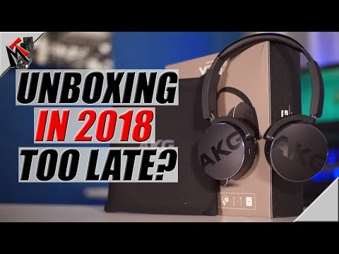 AKG Y50BT Bluetooth Headphones UNBOXING in 2018