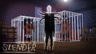 Minecraft SLENDERMANS SCARY BASEMENT - SLENDERMAN HAS KIDNAPPED & TRAPPED DONUT & BABY MAX!!!!