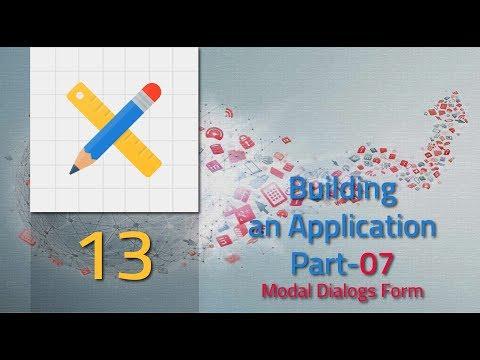 013 Building an Application part 07 Modal Dialog Form [Oracle Apex 5.1 Tutorial]