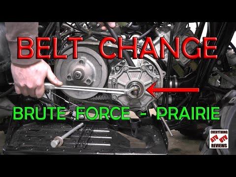 How to change Belt on Kawasaki BRUTE FORCE or PRAIRIE 360 650 700 750