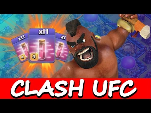 Clash Of Clans | MAX HOGS & 11 HASTE SPELLS vs ONE BASE! | Clash UFC 2015!