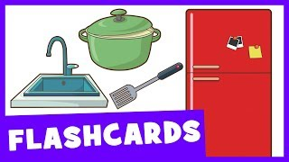 Learn Kitchen Items | Talking Flashcards