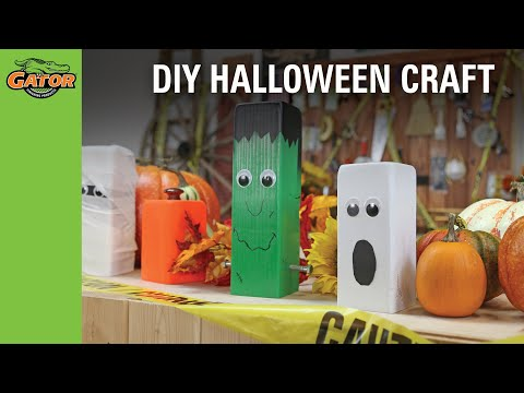 Halloween Wood Craft Project
