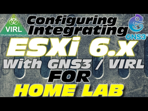 How to configure and Integrate GNS3 VM, VIRL, etc. with Physical Network integration on ESXi