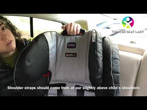 Adjusting head rest and shoulder straps on Britax Frontier, Pinnacle or Pioneer