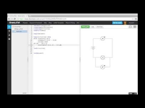 Creating Circuit Diagrams for LaTeX Documents Using Circuitikz