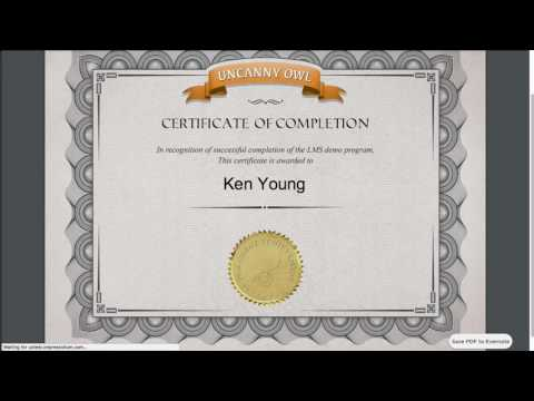Uncanny LP: Creating a Certificate