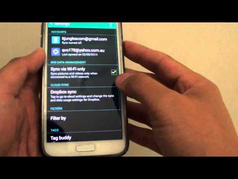 Samsung Galaxy S5: How to Enable / Disable Gallery Picture Sync Via Wi-Fi Only