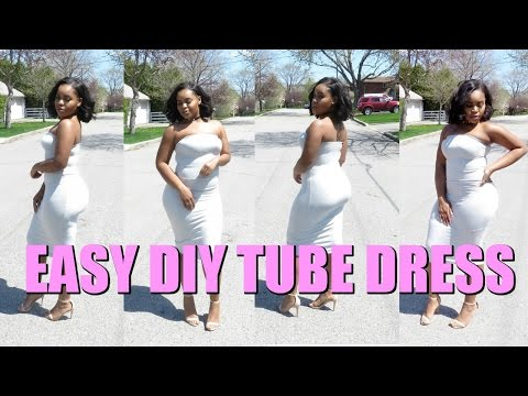 DIY | HOW TO MAKE YOUR OWN SUMMER TUBE DRESS | Kelly