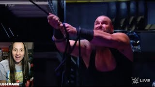 WWE Raw 1/8/18 Braun with a Grappling Hook BACKSTAGE
