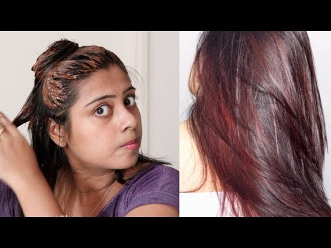 How to colour(BURGUNDY) Your Hair Naturally At Home
