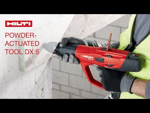 INTRODUCING the Hilti powder-actuated fastening tool DX 5