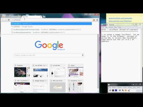 IPv6 - Localhost using browser (Proof Of Concept)