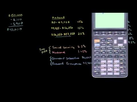 Calculating federal taxes and take home pay