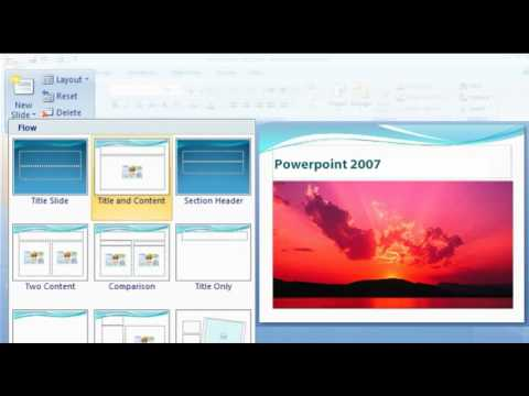 How to create an attractive presentation in PowerPoint 2007? (www.explania.com)