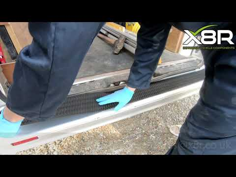 Trafic Vivaro Primastar Rear Bumper Protector Cover Tread Strip Guard Install Instructions Guide