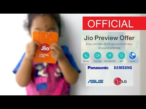 Official Free Reliance Jio 4G Sim with Unlimited Preview Offers (Read Description)