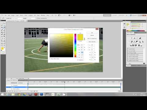 Basics of Photoshop CS5 -  Painting video frames Rotoscoping in Photoshop CS5