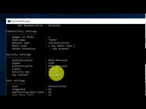 How To Find WiFi Security Key Password Using Command Prompt