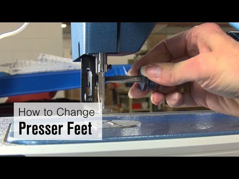 How to Change Presser Feet to the Large Cording Foot on Ultrafeed LSZ-1