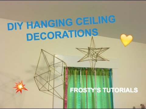 DIY Wooden Hanging Ceiling Decorations