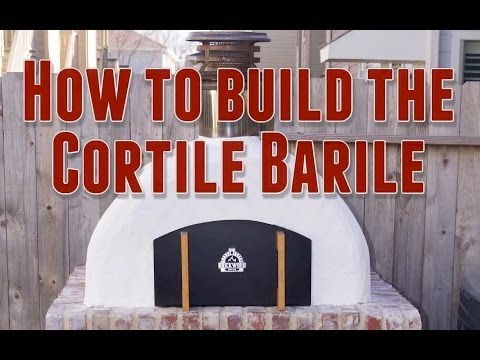 How to build the Cortile Barile Wood-Fired Outdoor Pizza Oven by BrickWood Ovens