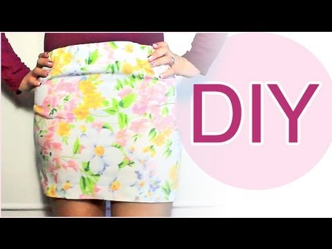 DIY: SKIRT NO SEWING turn pillow case into skirt