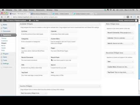 How do I use the Text Widget to add a custom Twitter widget to my WordPress site?