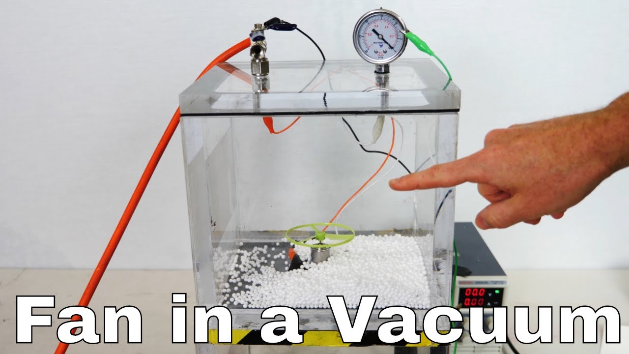 What Does a Fan Do in a Vacuum Chamber? Weird Results