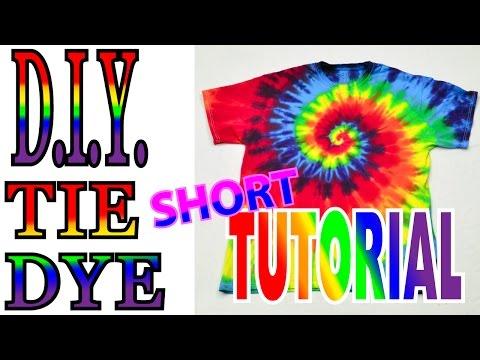 DIY Tie Dye Rainbow Spiral [Short Tutorial] #36