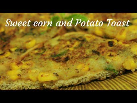 Bread toast - Corn and potato toast - Bread recipe - Sweet corn recipe