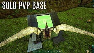 SOLO PVP BASE BUILD w/ Dino Storage - The Center (E4) - ARK Survival Gameplay
