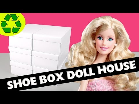 How To Make A Shoe Box Dollhouse - Part 1- Structure- Easy Doll Crafts - simplekidscrafts