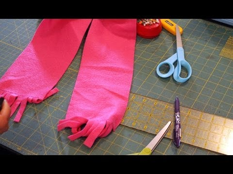 How to Make a Fleece Fringe Scarf - Jellyfish applique for Kids