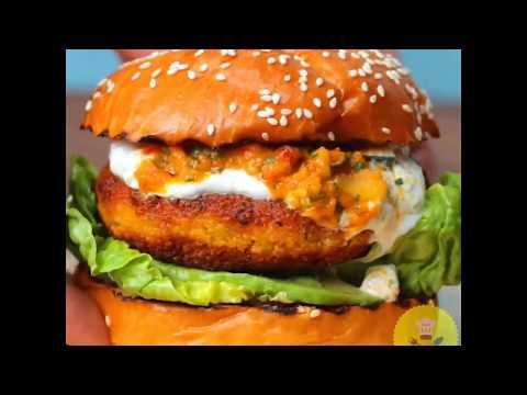 Knorr Couscous Halloumi Burger | GrubHub | Food