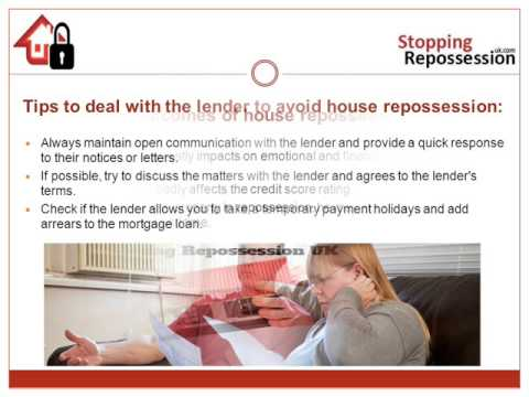 How to stop house repossession
